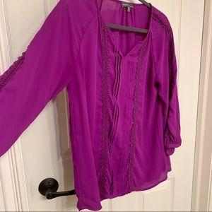 Bright bold pink blouse | Market & Spruce